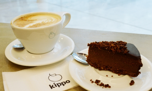 Latte and raw chili chocolate cake
