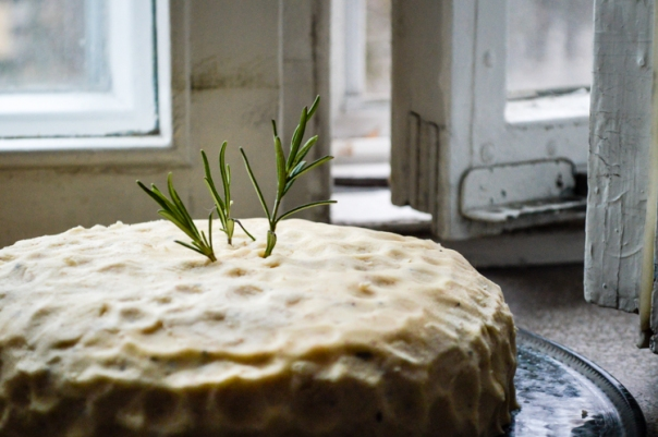 2women2cats: Rosemary Cake With Lemon Curd and Brown Butter Frosting